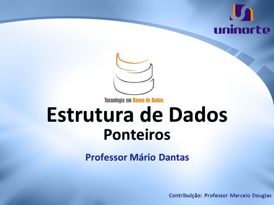 Estrutura de Dados Ponteiros Professor Mário Dantas Contribuição: Professor Marcelo Douglas