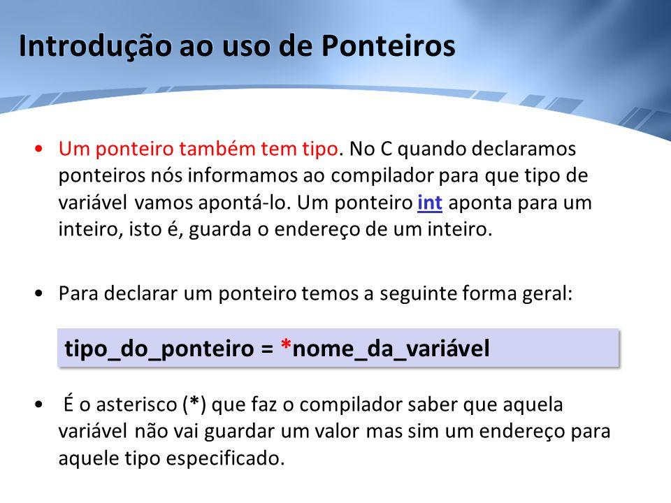 Aritmética de Ponteiros •Uma outra operação, às vezes útil, é a comparação entre dois ponteiros.