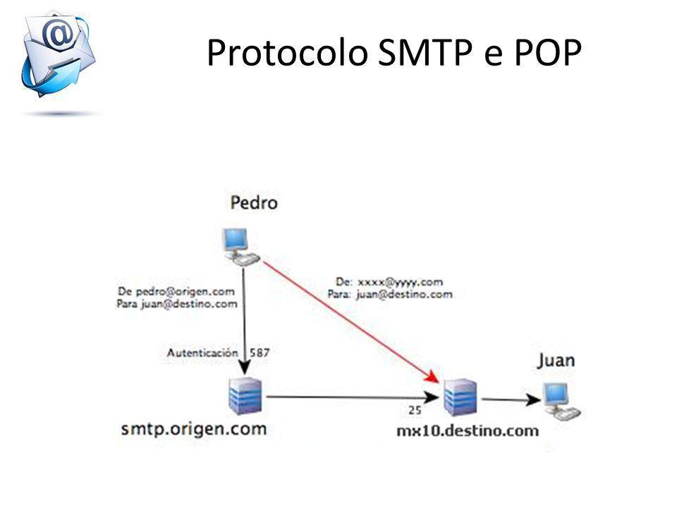 O protocolo POP (Post Office Protocol, que se pode traduzir por protocolo de posto dos correios ) permite, como o seu nome o indica, recuperar o seu correio num servidor distante (o servidor POP).