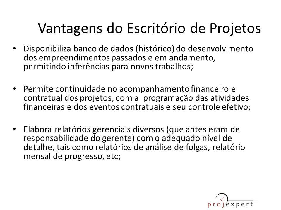 • Disponibiliza banco de dados (histórico) do desenvolvimento dos empreendimentos passados e em andamento, permitindo inferências para novos trabalhos