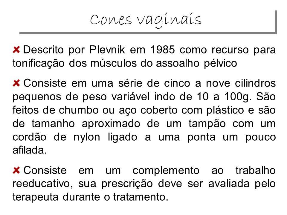 Descrito por Plevnik em 1985 como recurso para tonificação dos músculos do assoalho pélvico Consiste em uma série de cinco a nove cilindros pequenos de peso variável indo de 10 a 100g.