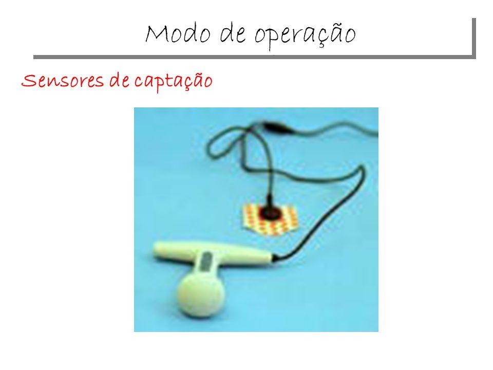 Disposição dos sensores