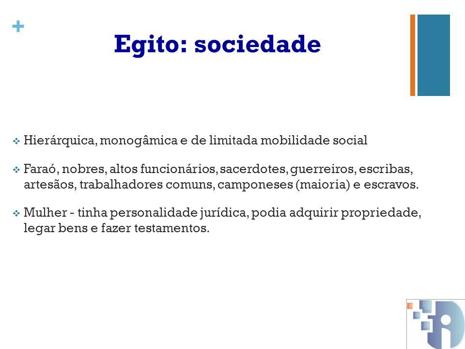 + Egito: organização política  Organização política inicial (3500 a.C): nomos.