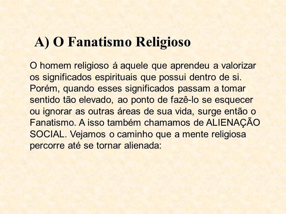 A) O Fanatismo Religioso O homem religioso á aquele que aprendeu a valorizar os significados espirituais que possui dentro de si.