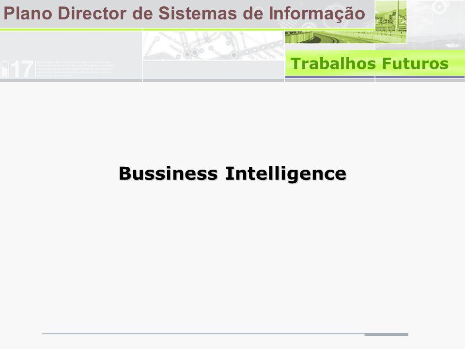 Plano Director de Sistemas de Informação Trabalhos Futuros Bussiness Intelligence