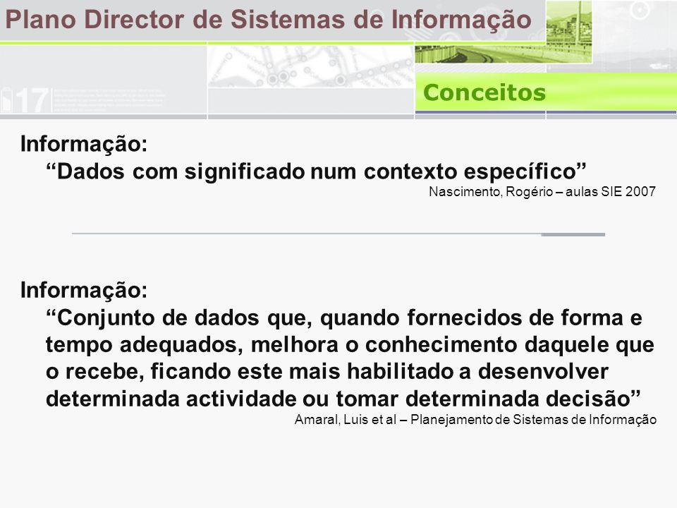 Amaral, Luis –Planeamento de Sistemas de Informação Legenda: Decisor (D); Fortemente envolvido (F); Algum envolvimento (A).