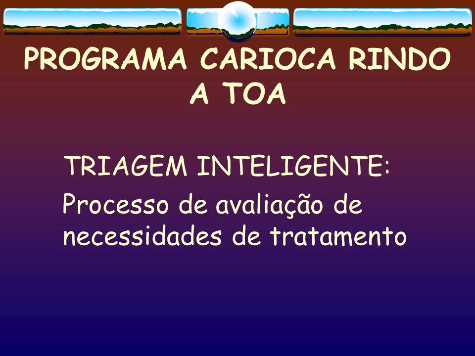 PROGRAMA CARIOCA RINDO A TOA TRIAGEM INTELIGENTE: Processo de avaliação de necessidades de tratamento