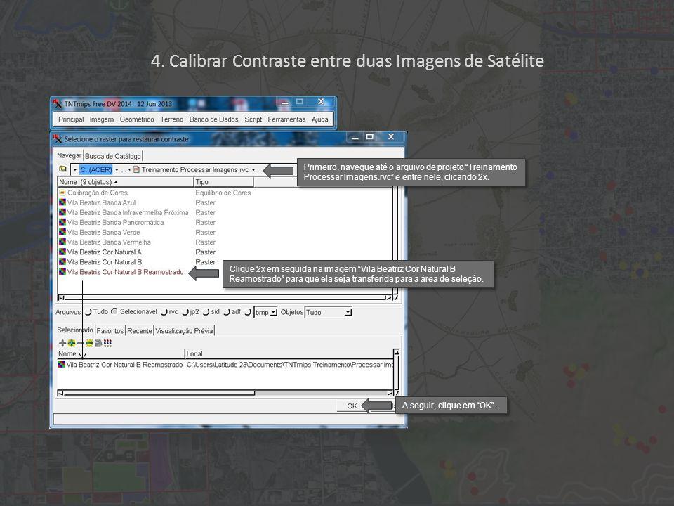 """Primeiro, navegue até o arquivo de projeto """"Treinamento Processar Imagens.rvc"""" e entre nele, clicando 2x. A seguir, clique em """"OK"""". Clique 2x em segui"""