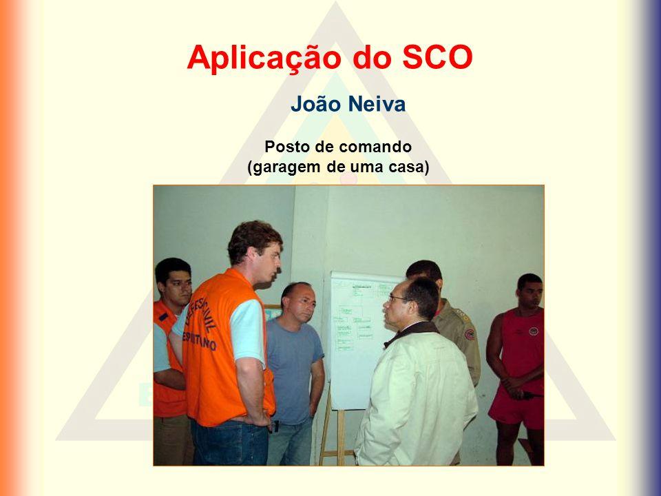 Aplicação do SCO João Neiva Posto de comando (garagem de uma casa)