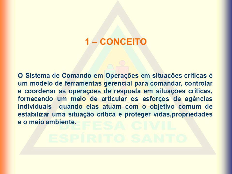 2 – ORIGEM • O SCO adotado pela Defesa Civil de Santa Catarina é baseado no Incident Command System (ICS), criado e desenvolvido nos Estados Unidos da América.