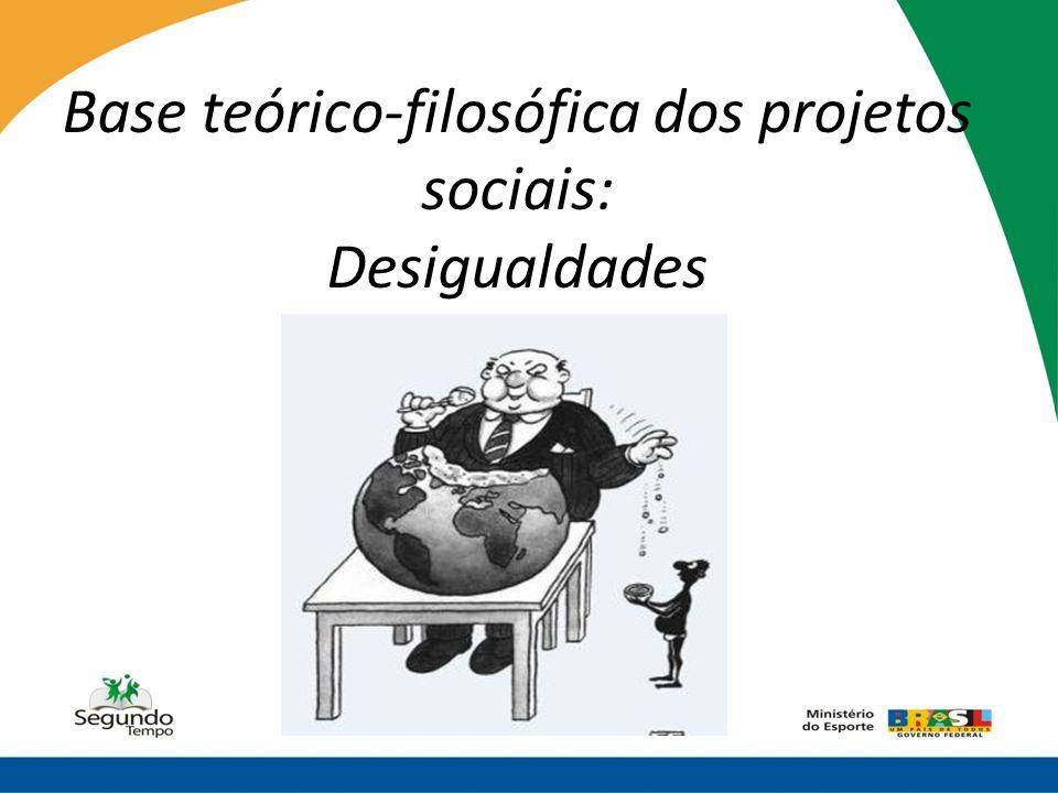 Base teórico-filosófica dos projetos sociais: Desigualdades