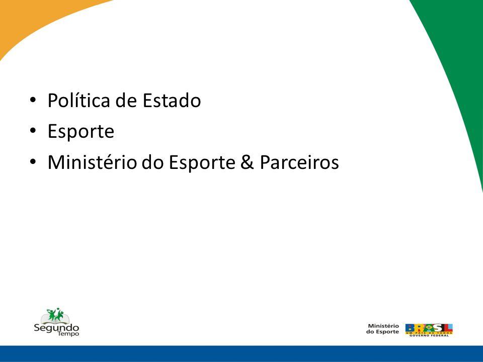 • Política de Estado • Esporte • Ministério do Esporte & Parceiros