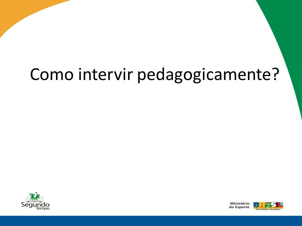Como intervir pedagogicamente?