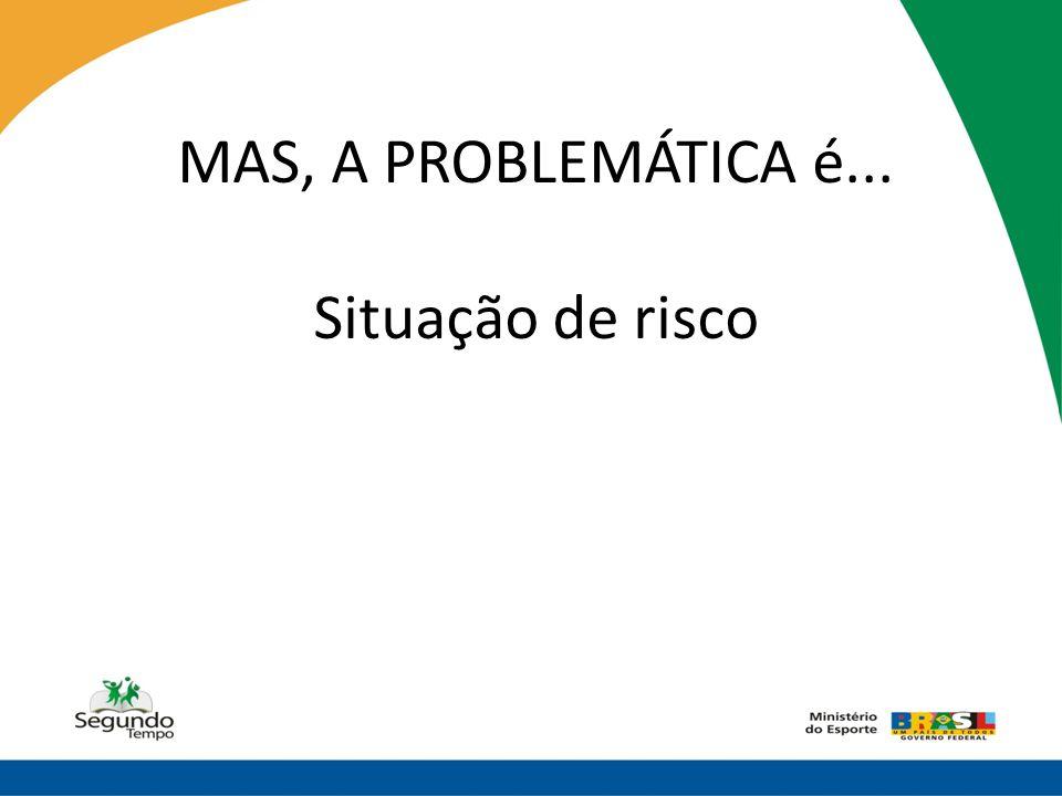 MAS, A PROBLEMÁTICA é... Situação de risco