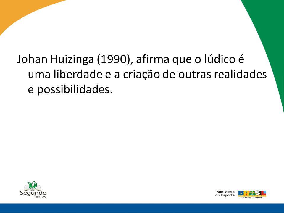 Johan Huizinga (1990), afirma que o lúdico é uma liberdade e a criação de outras realidades e possibilidades.