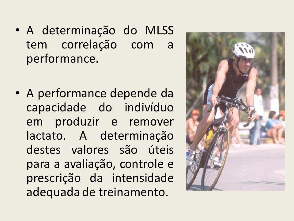 • A determinação do MLSS tem correlação com a performance. • A performance depende da capacidade do indivíduo em produzir e remover lactato. A determi