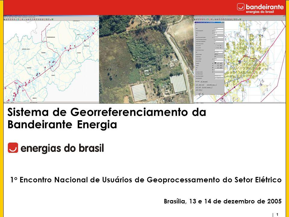 1 1 o Encontro Nacional de Usuários de Geoprocessamento do Setor Elétrico Brasília, 13 e 14 de dezembro de 2005 Sistema de Georreferenciamento da Band