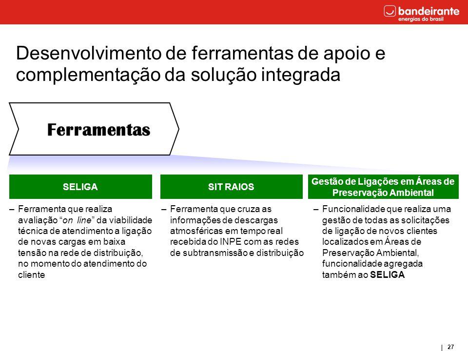 """27 SELIGA –Ferramenta que realiza avaliação """"on line"""" da viabilidade técnica de atendimento a ligação de novas cargas em baixa tensão na rede de distr"""