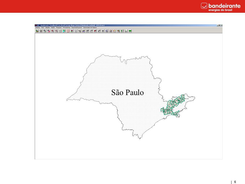 37 Área de Concessão Áreas de Proteção Serra do Mar Serra da Mantiqueira Bacia do Rio Paraíba do Sul Serra da Cantareira Serra do Itapeti e APM
