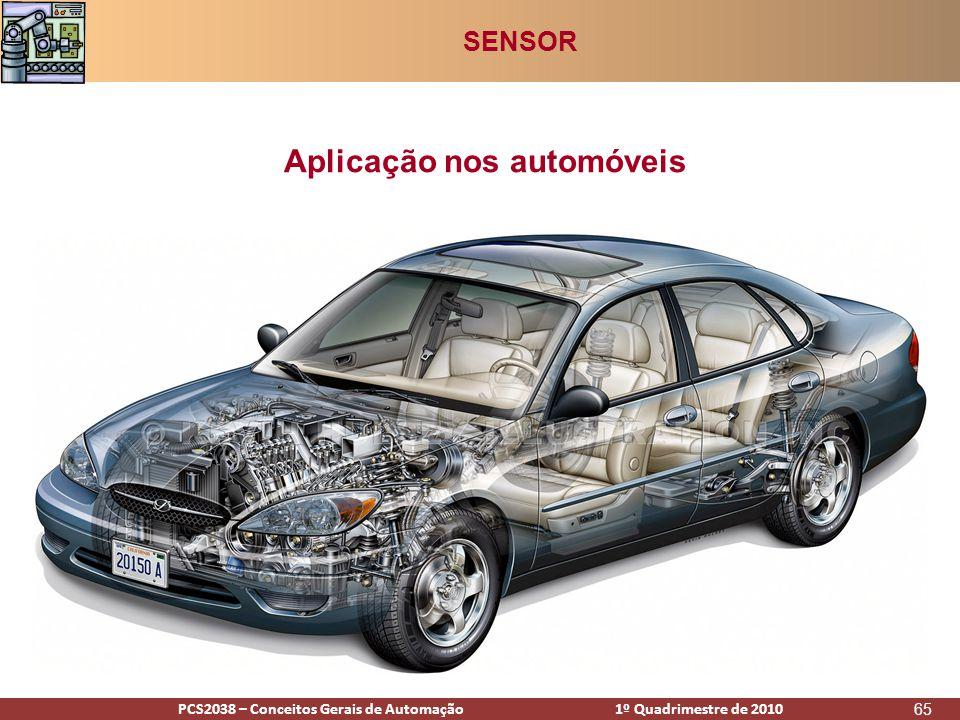 PCS2938 – Conceitos Gerais de Automação 1º Quadrimestre de 2009PCS2038 – Conceitos Gerais de Automação 1º Quadrimestre de 2010 65 Aplicação nos automóveis SENSOR