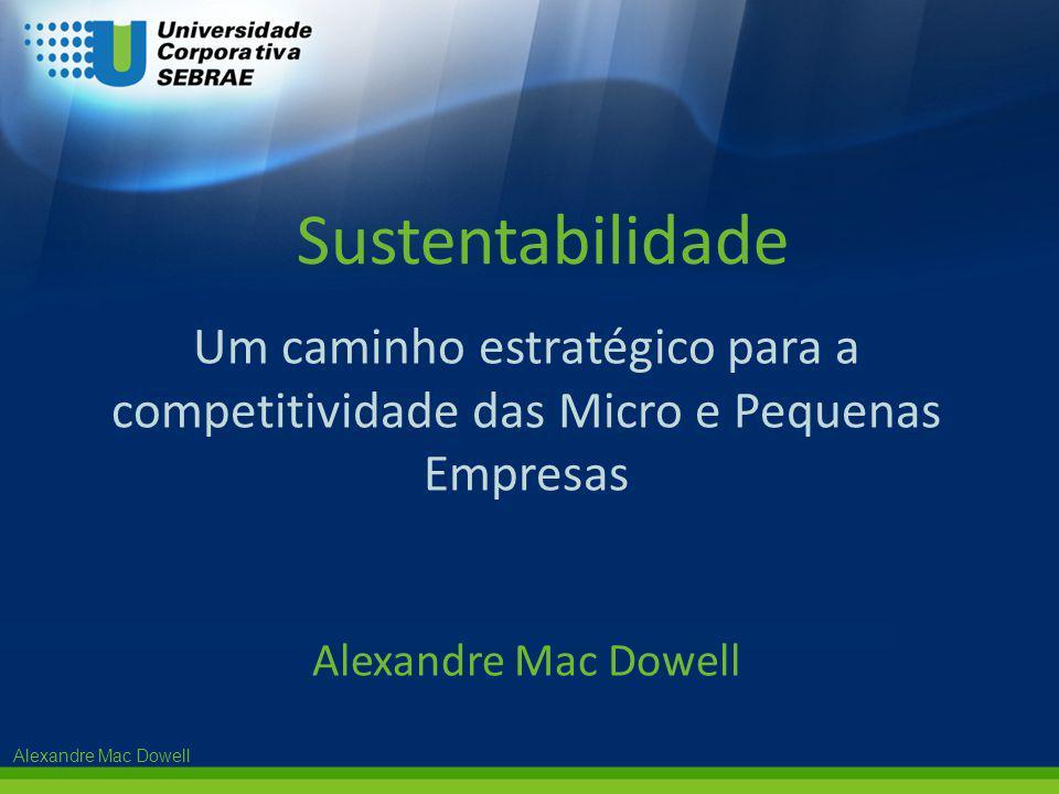 Alexandre Mac Dowell Um caminho estratégico para a competitividade das Micro e Pequenas Empresas Alexandre Mac Dowell Sustentabilidade