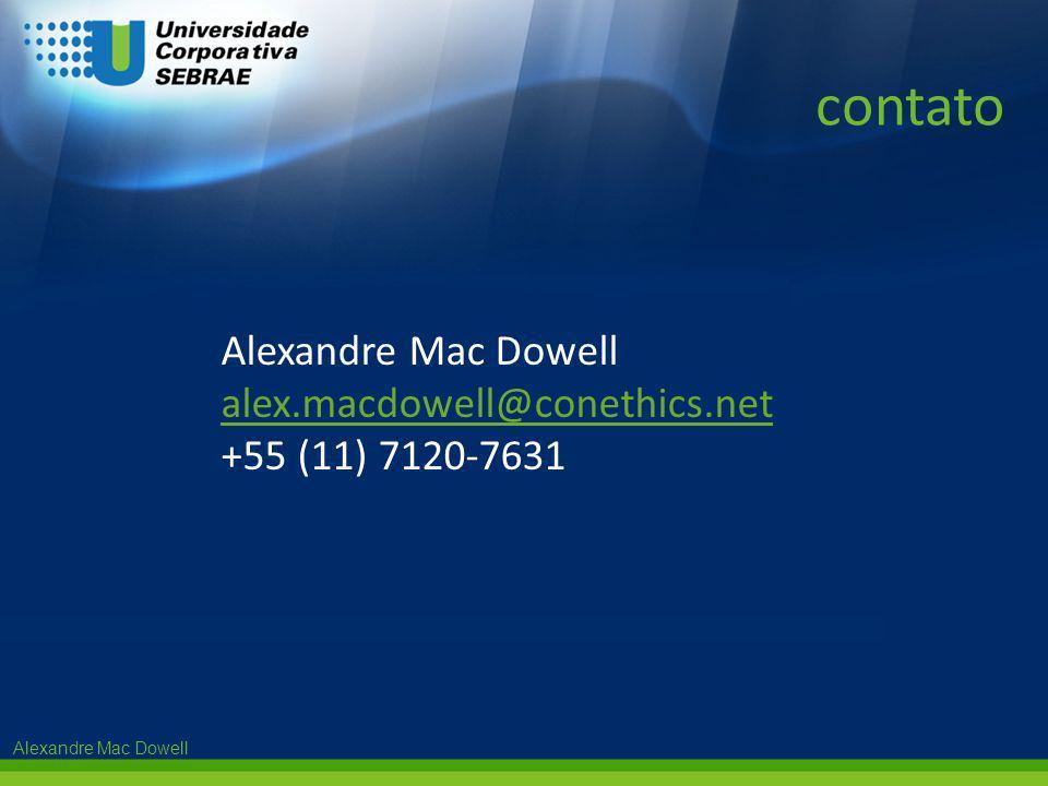 Alexandre Mac Dowell alex.macdowell@conethics.net +55 (11) 7120-7631 contato