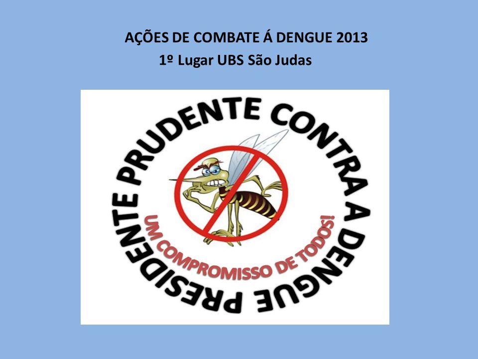 AÇÕES DE COMBATE Á DENGUE 2013 1º Lugar UBS São Judas