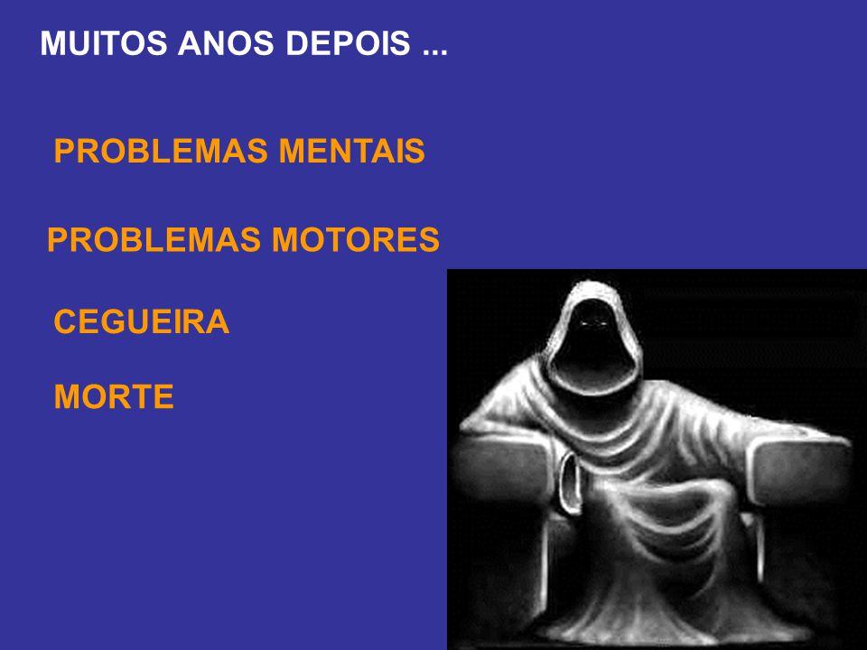 MUITOS ANOS DEPOIS... PROBLEMAS MENTAIS PROBLEMAS MOTORES CEGUEIRA MORTE