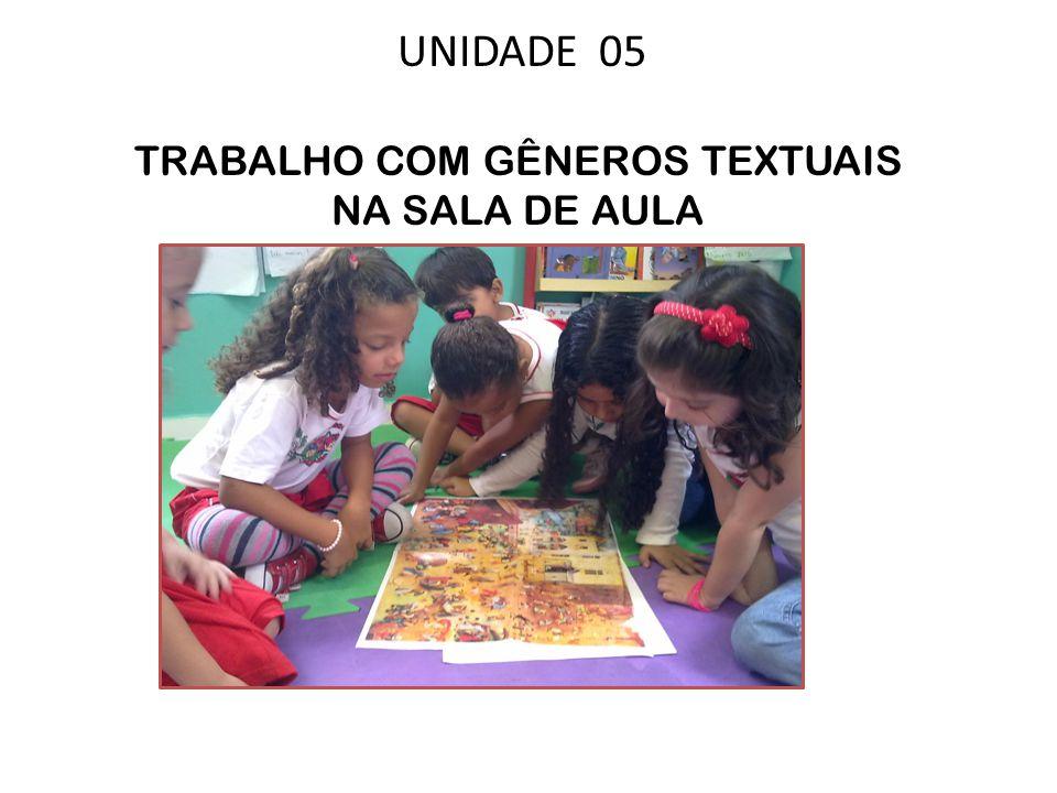 UNIDADE 05 TRABALHO COM GÊNEROS TEXTUAIS NA SALA DE AULA