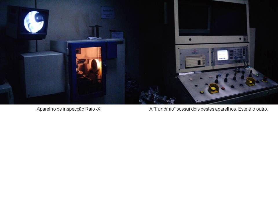 """Aparelho de inspecção Raio -XA """"Fundínio"""" possui dois destes aparelhos. Este é o outro."""