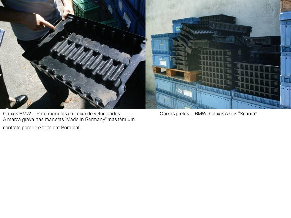 """Caixas BMW – Para manetas da caixa de velocidades A marca grava nas manetas """"Made in Germany"""" mas têm um contrato porque é feito em Portugal. Caixas p"""