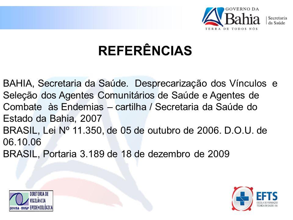 BAHIA, Secretaria da Saúde.