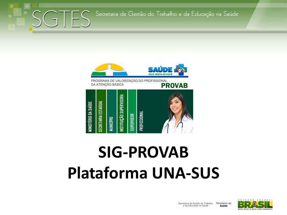 Integração • SIG PROVAB como portal de entrada única para todos os atores; • Padronização do layout.