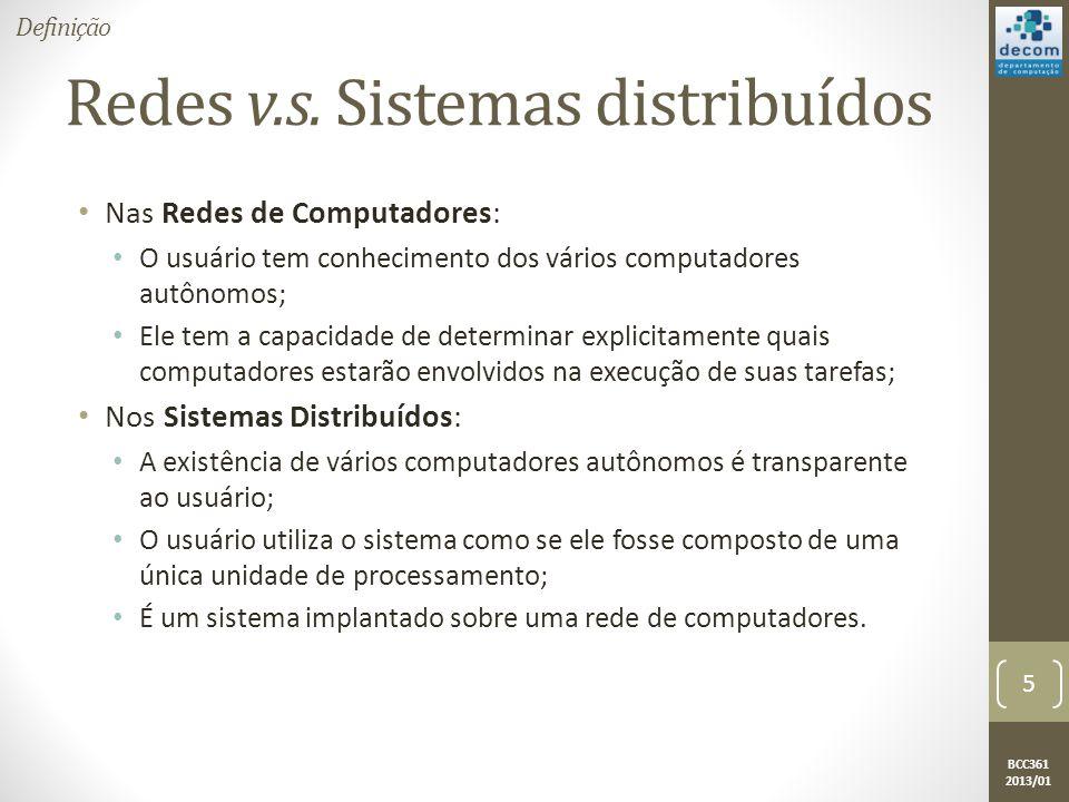 BCC361 2013/01 Redes v.s.