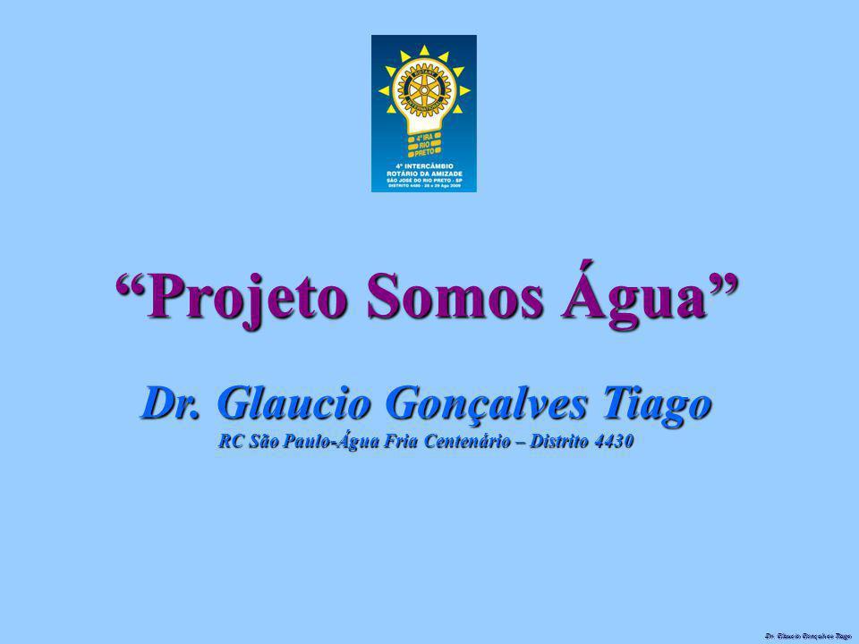"""Dr. Glaucio Gonçalves Tiago """"Projeto Somos Água"""" Dr. Glaucio Gonçalves Tiago RC São Paulo-Água Fria Centenário – Distrito 4430"""