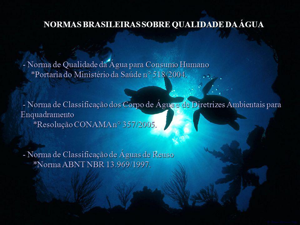 Dr. Glaucio Gonçalves Tiago NORMAS BRASILEIRAS SOBRE QUALIDADE DA ÁGUA - Norma de Qualidade da Água para Consumo Humano - Norma de Qualidade da Água p