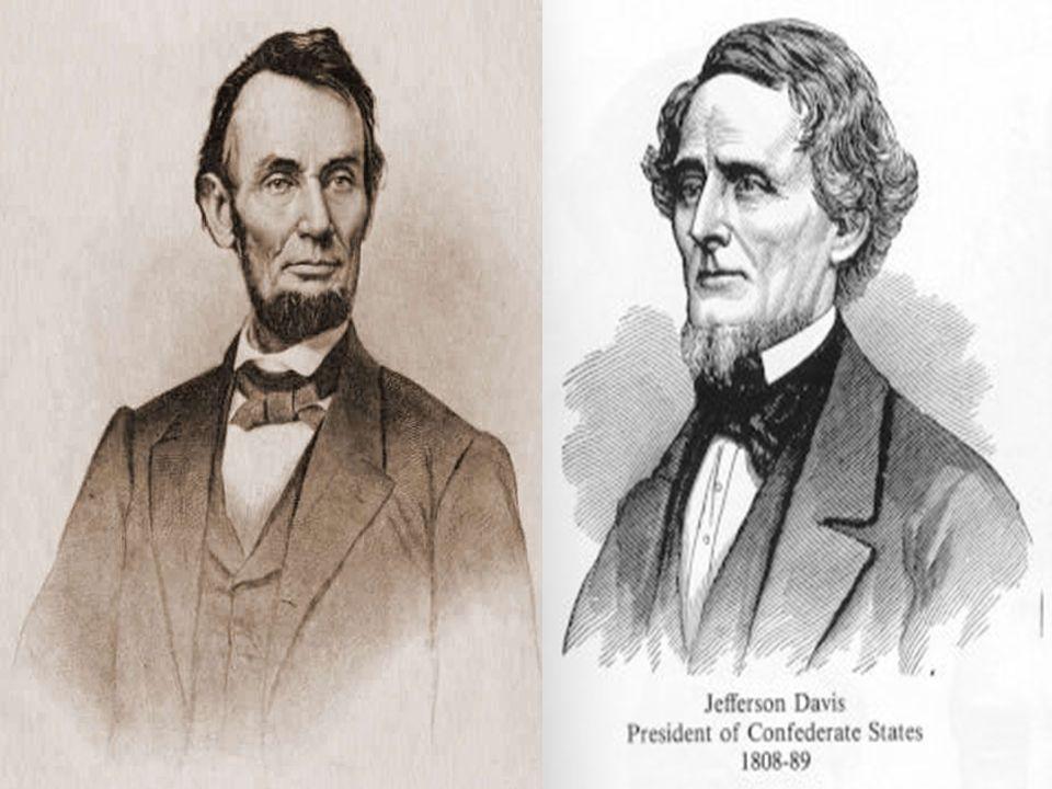 Guerra de Secessão (1861 – 1865) Azul: Estados da União Vermelho: Confederados Azul claro: Estados escravista que mantiveram-se ao lado da União Branco: Territórios que seriam posteriormente elevados á categoria De Estado