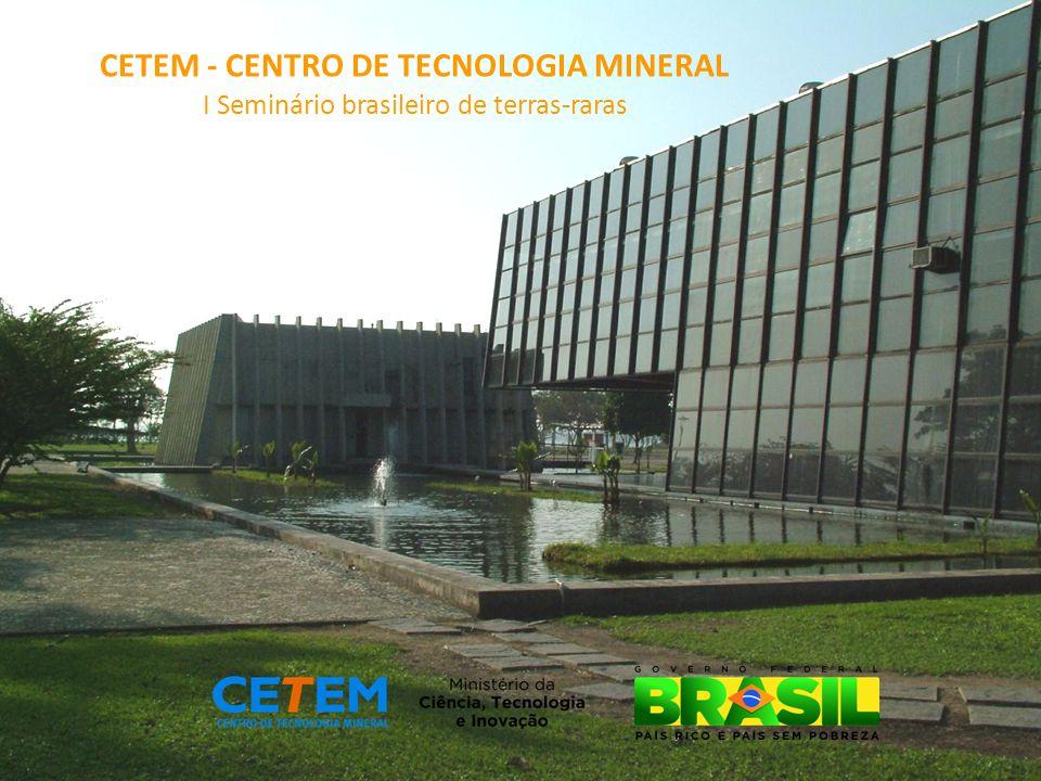 CETEM - CENTRO DE TECNOLOGIA MINERAL I Seminário brasileiro de terras-raras