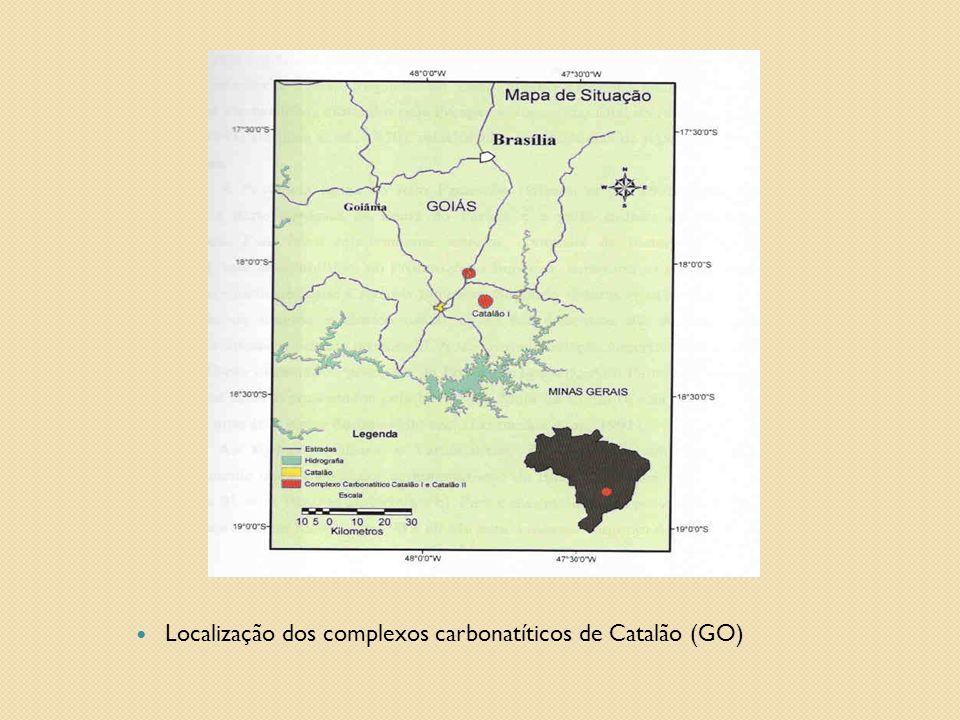  Localização dos complexos carbonatíticos de Catalão (GO)