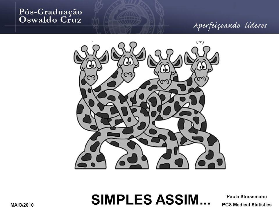 SIMPLES ASSIM... Paula Strassmann PGS Medical Statistics MAIO/2010