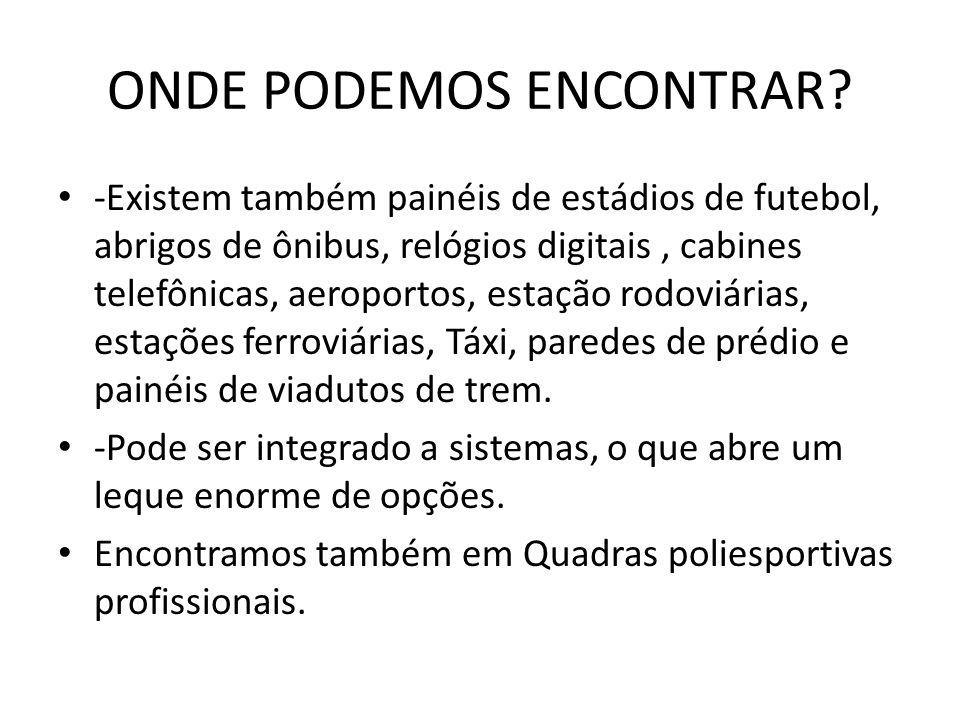 EXEMPLO: COMPONENETES PRESENTES EM UM PAINEL DA LOHR:
