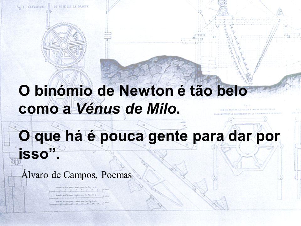 O binómio de Newton é tão belo como a Vénus de Milo.
