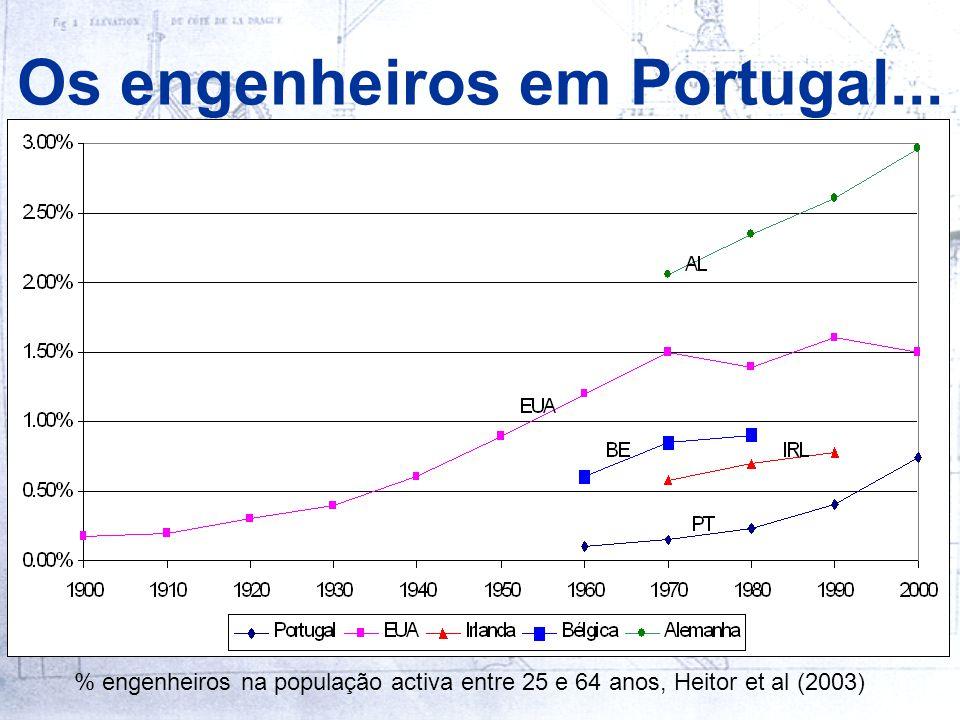 Os engenheiros em Portugal...