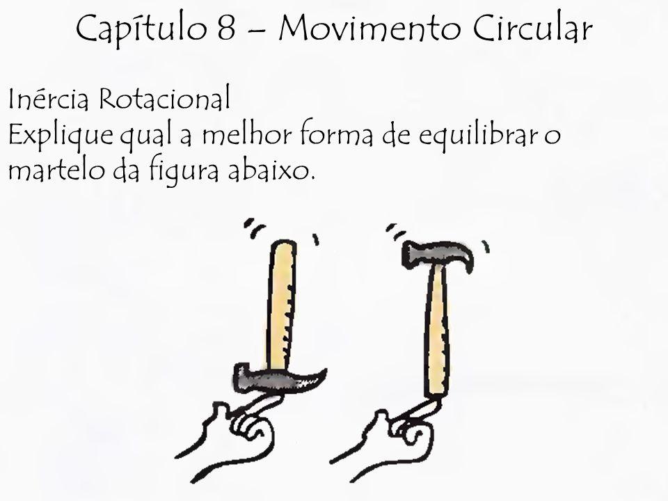 Inércia Rotacional Explique qual a melhor forma de equilibrar o martelo da figura abaixo.