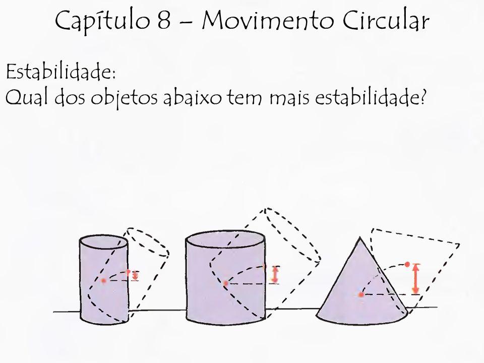 Estabilidade: Qual dos objetos abaixo tem mais estabilidade? Capítulo 8 – Movimento Circular