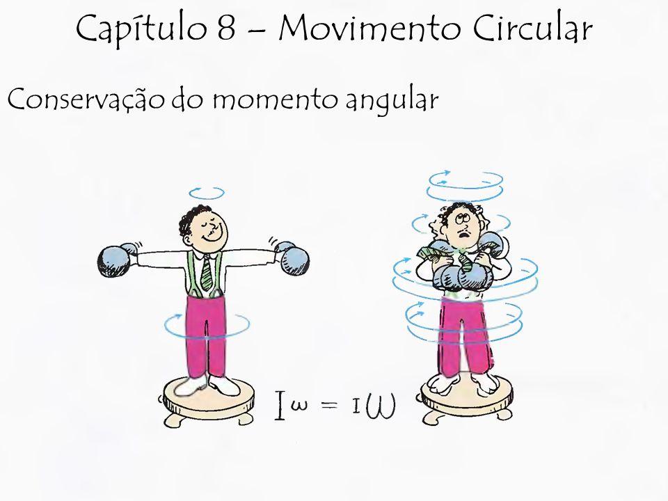 Conservação do momento angular Capítulo 8 – Movimento Circular