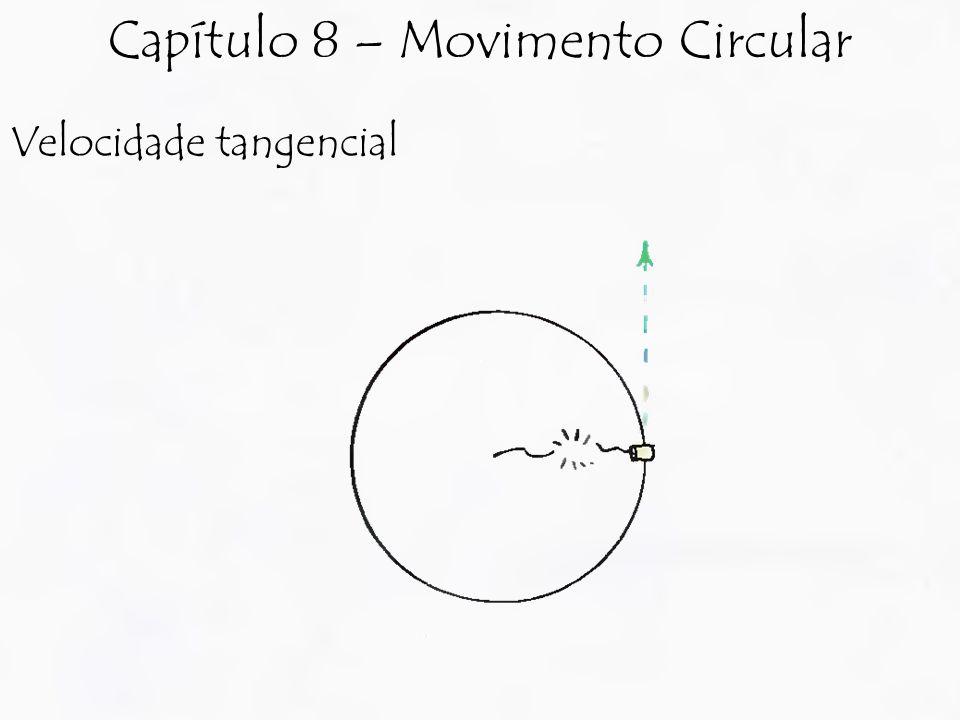 Velocidade tangencial Capítulo 8 – Movimento Circular