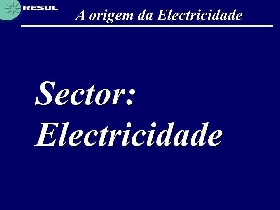 A origem da Electricidade Sector: Electricidade