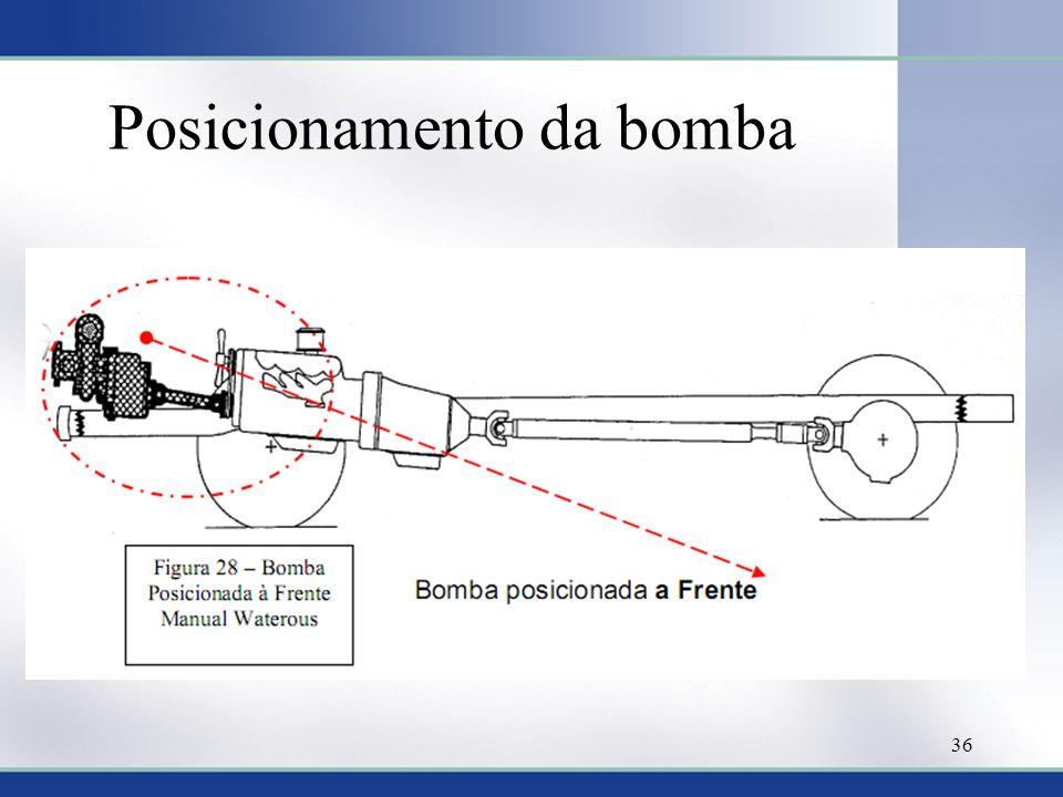 Posicionamento da bomba 36