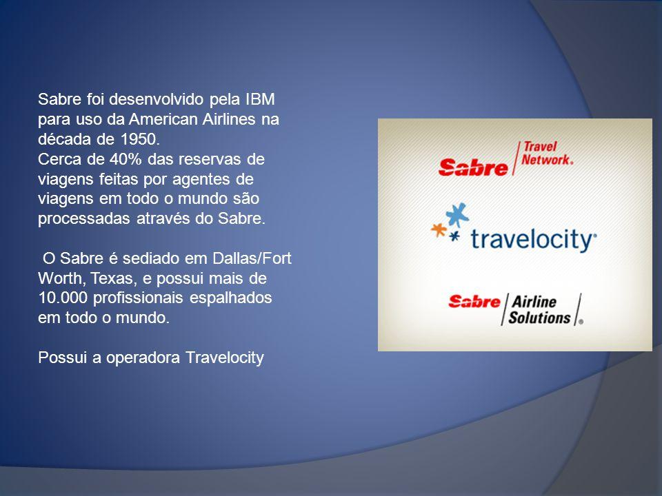 Sabre foi desenvolvido pela IBM para uso da American Airlines na década de 1950. Cerca de 40% das reservas de viagens feitas por agentes de viagens em
